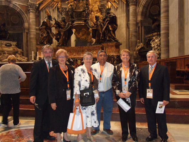 Imagen del grupo en el Encuentro con el Papa Benedicto XVI